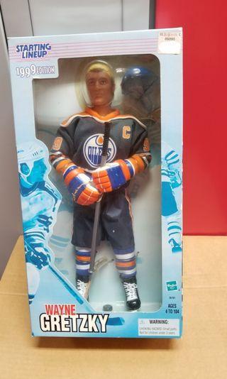 """12"""" 12寸 Starting Lineup Wayne Gretzky in Oilers Jersey"""