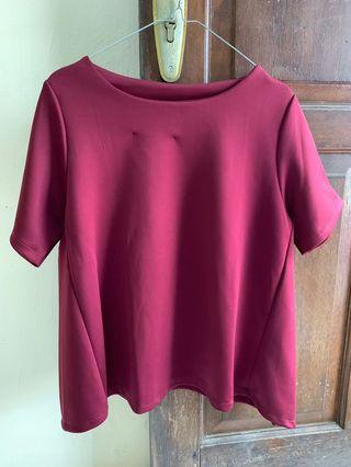 SALE 35.000 BLOUSE MAROON