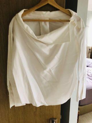 UK 12 Japan design chic white top