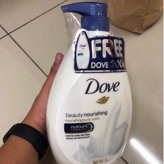 Dove Nourishing Shampoo 1L With Free gift