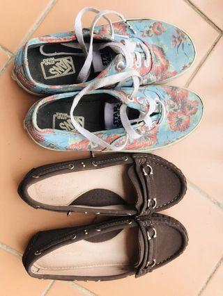 Vans shoe + free shoes kids
