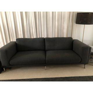 3-seats sofa excellent condition with chrome legs