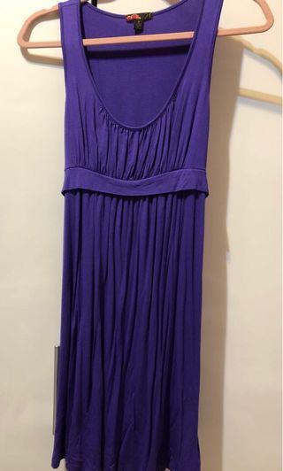 無袖小洋裝 紫色