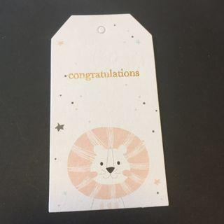 """🚚 """"Congratulations"""" Lion Gift Tag"""