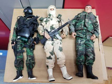 """12"""" Action man and 21st Century figures 6只公仔 - SWAT, Navy Seal"""