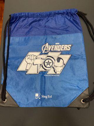 Used SingTel Avengers Drawstring Bag