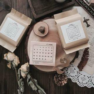 Date wooden stamp