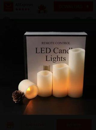 LED candle lights, beautiful, bright, slim, remote control, safe