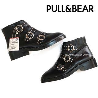 [FREE DELIVERY] Pull and Bear Women's Buckled Ankle Boots