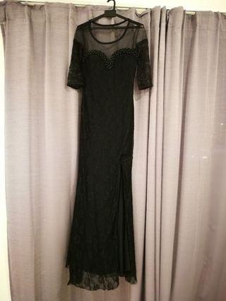 Long Black Dinner Dress