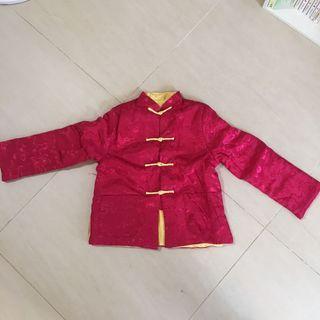 紅色金色雙面唐裝外套