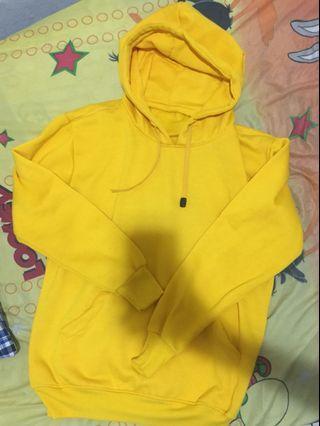 Yellow Hoodie, Jaket Kuning, Hoodie