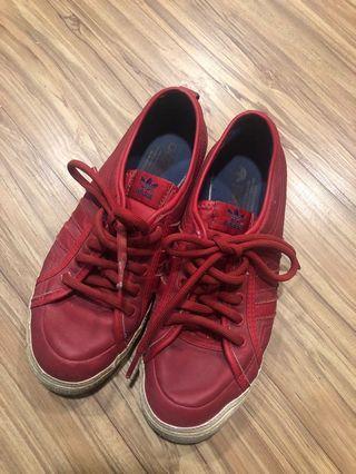 🚚 Adidas Originals Nizza 紅色復古 籃球休閒鞋