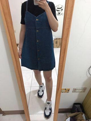 寬版牛仔裙