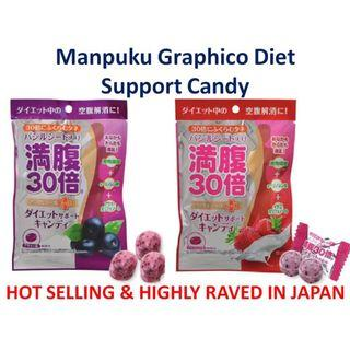 HIGHLY RAVED JAPAN MANPUKU GRAPHICO DIET CANDY SWEET