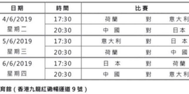 2019世界女排聯賽香港站!優惠預售!