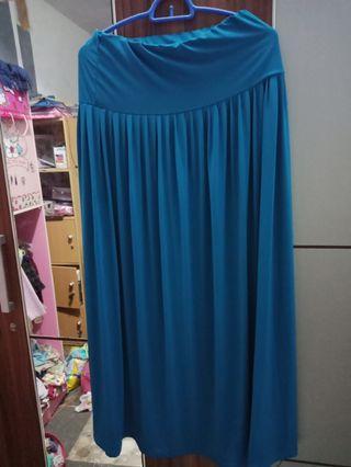 Rok Panjang , blue skirt