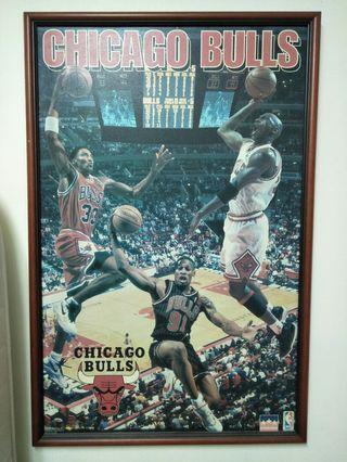 NBA籃球🏀芝加哥公牛隊CHICAGO BULLS居家裝飾佈置掛畫收藏