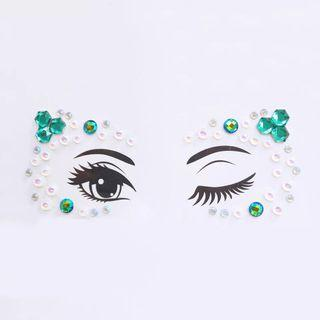 🚚 Face crystal gem stickers jewel Glitter acrylic adhesive eyes temporary tattoo party festival make up