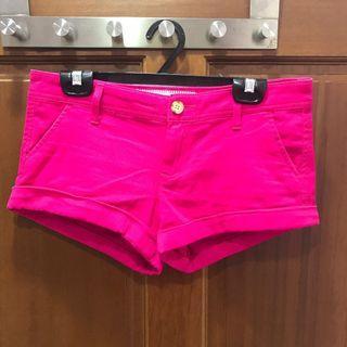 二手-Abercrombie &Fitch桃紅色短褲