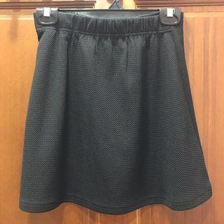 二手-A字彈性黑短裙