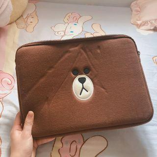 Line 熊大 brown 電腦套電腦袋iPad MacBook 12吋