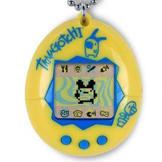 Original Tamagotchi Gen 2 - Yellow with Blue