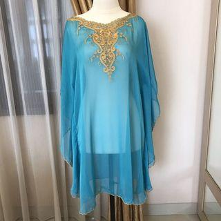 New - Blue Kaftan Tunic