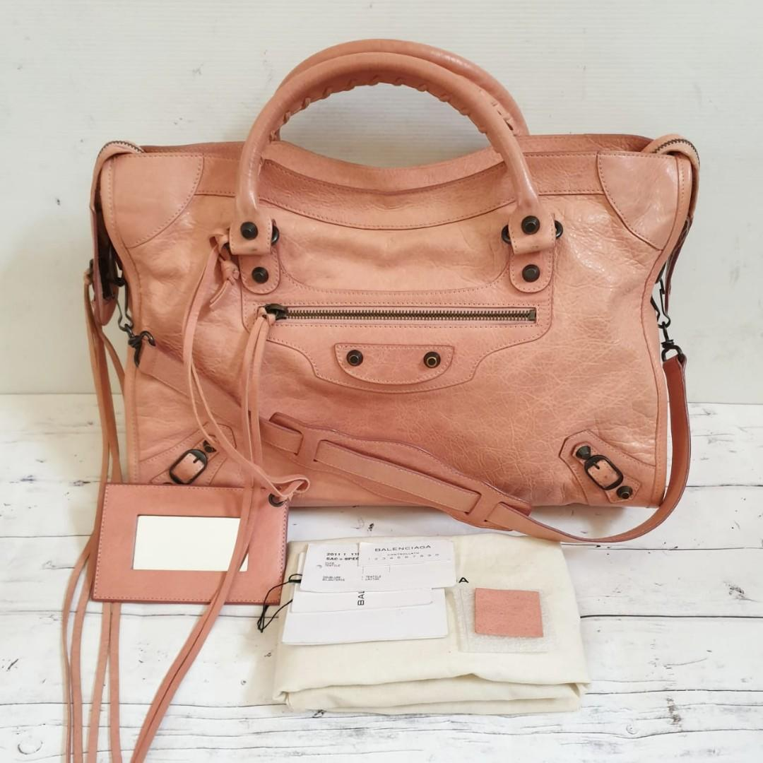 2nd Balenciaga City Reg Size 38 cm Peach RH 2011 full set, no rec