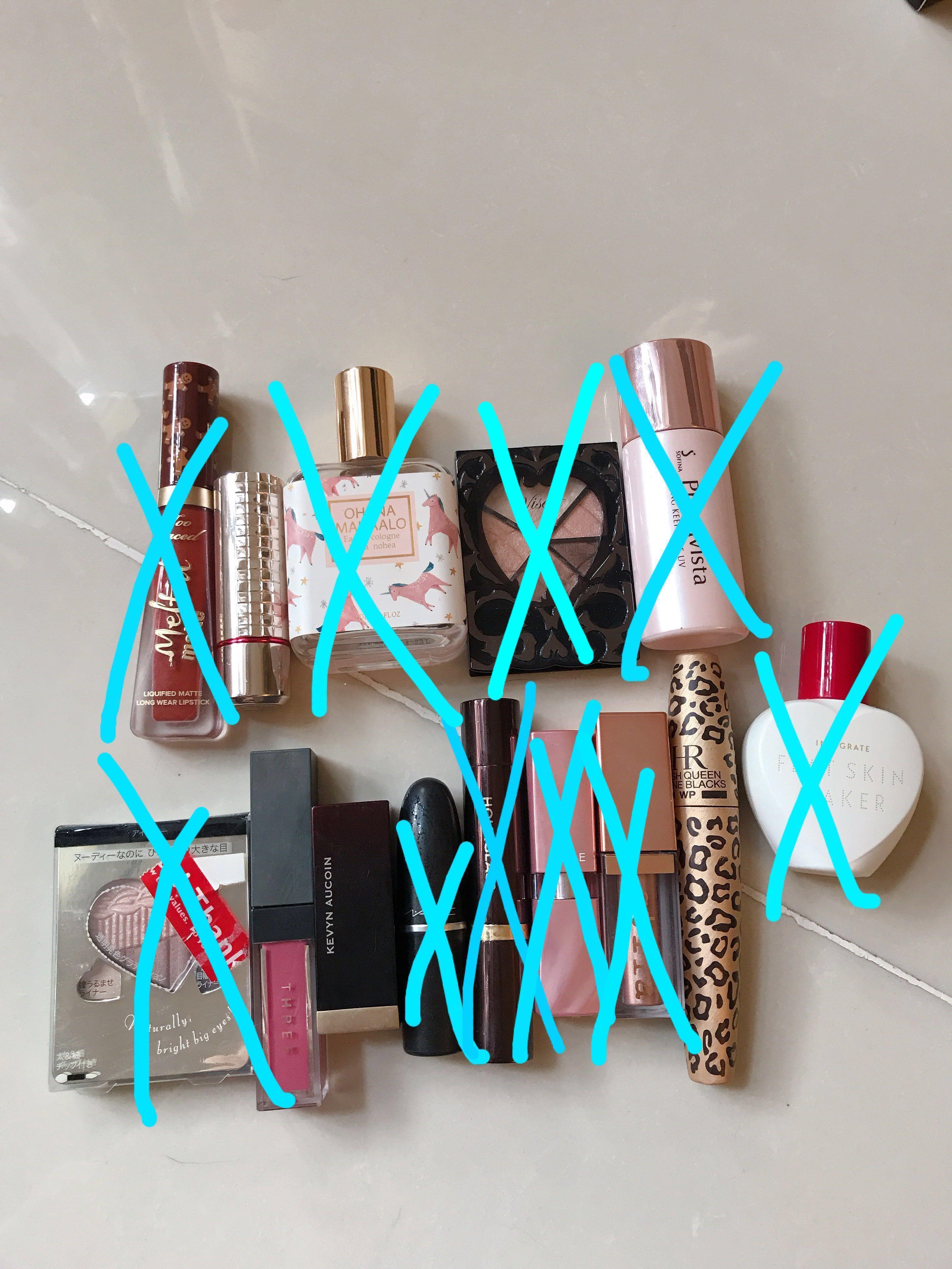 每件$40 任揀 不議價 唇膏 眼影 香水 primer too faced maquillage Phana mahaalo visee sofina integrate THREE Kevin Aucoin MAC HOURGLASS AUBE Stila HR MASCARA HELENA RUBINSTEIN EYESHADOW