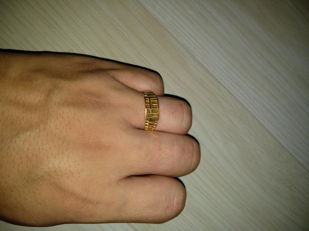 916 Gold Abacus Ring weight 4.75