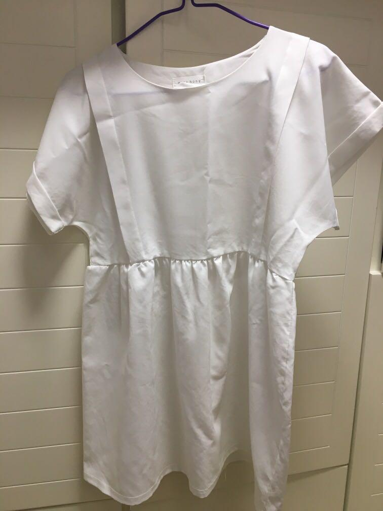 99% new white dress from Korea