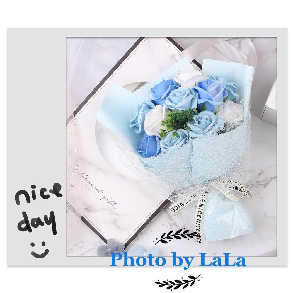 香皂花 藍色 乾花