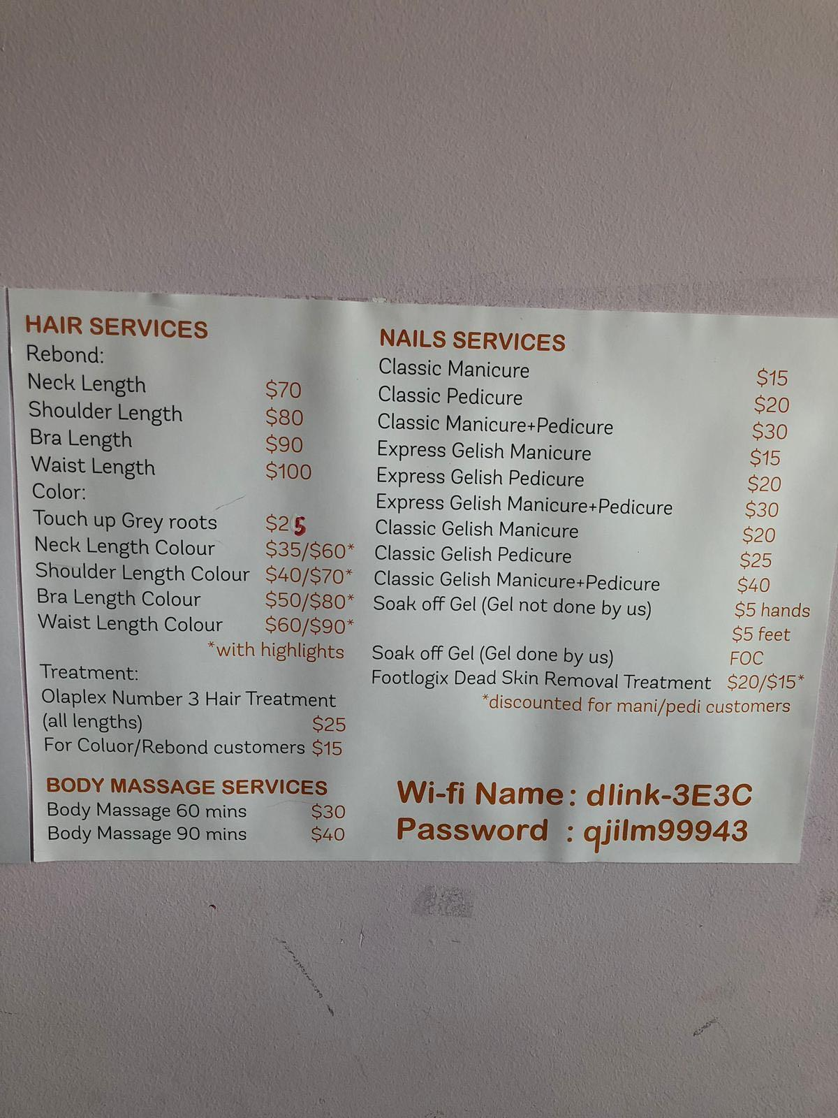 Affordable Hair, Nails, Massage n Waxing servicss at Punggol