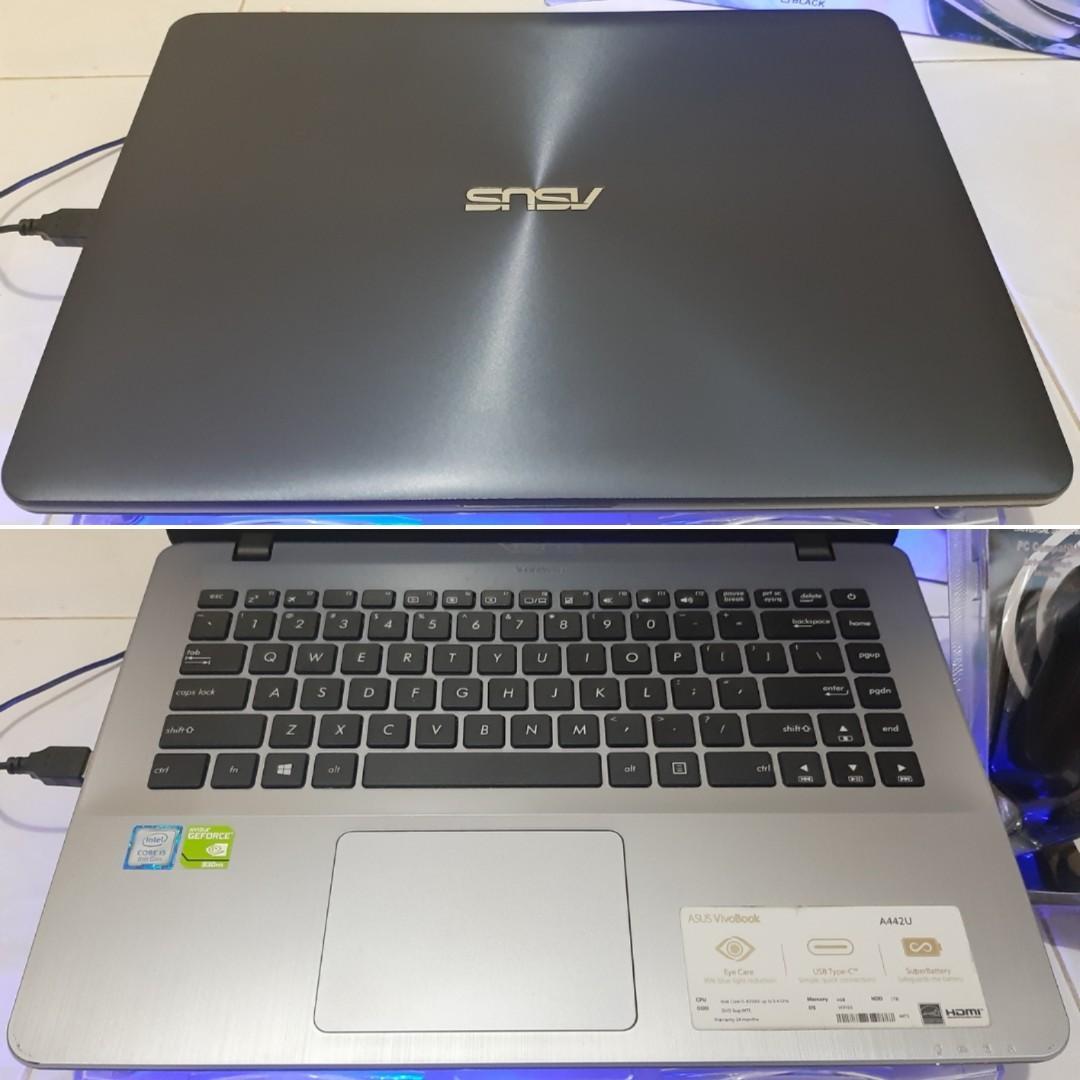 ASUS A442UR GEN.08 NVIDIA 930MX HDD 1TB MULUS BONUS MURAH