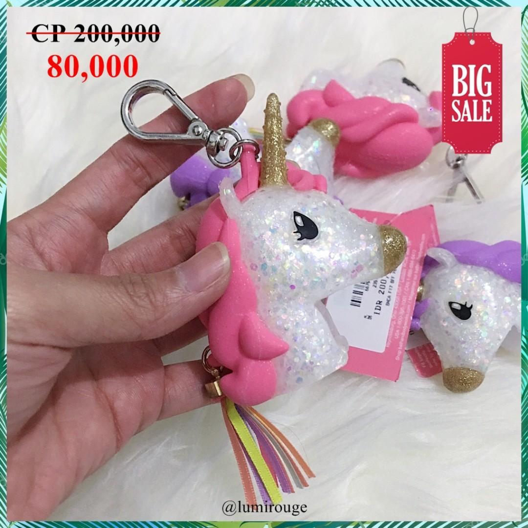 Bath and Body Works BBW Pocketbac Holder Unicorn Pink /Gantungan kunci