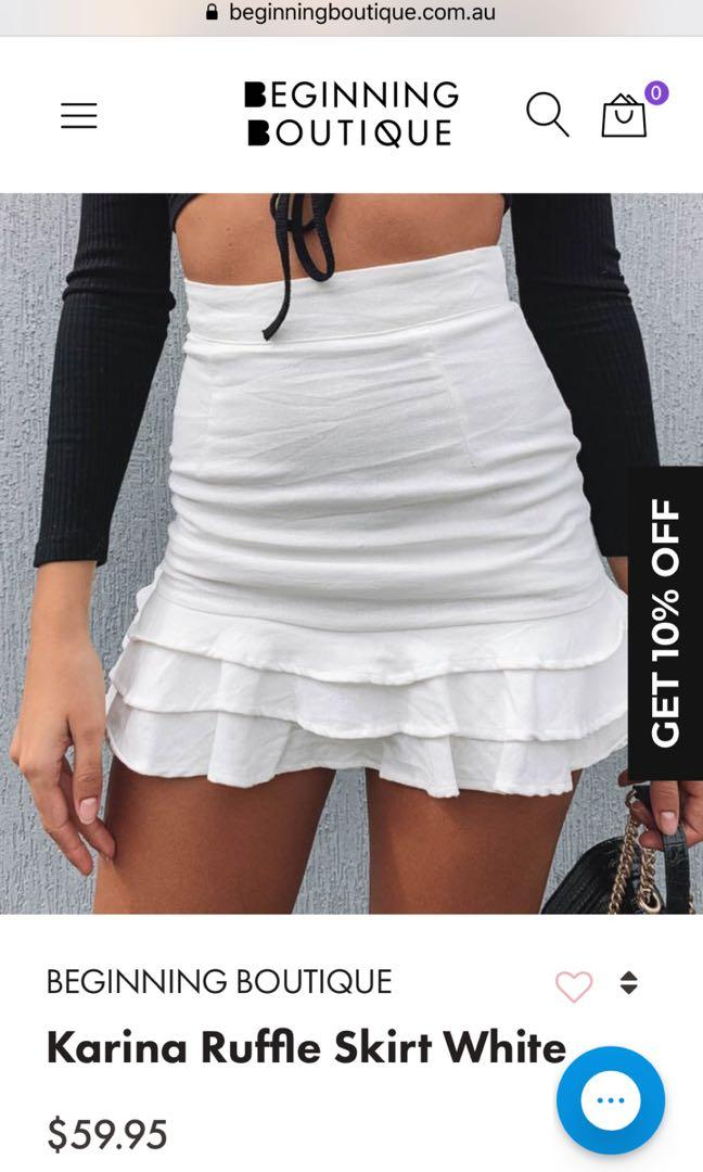 BRAND NEW With Tags- Beginning Boutique Katrina Ruffle Skirt (womens Au 10)