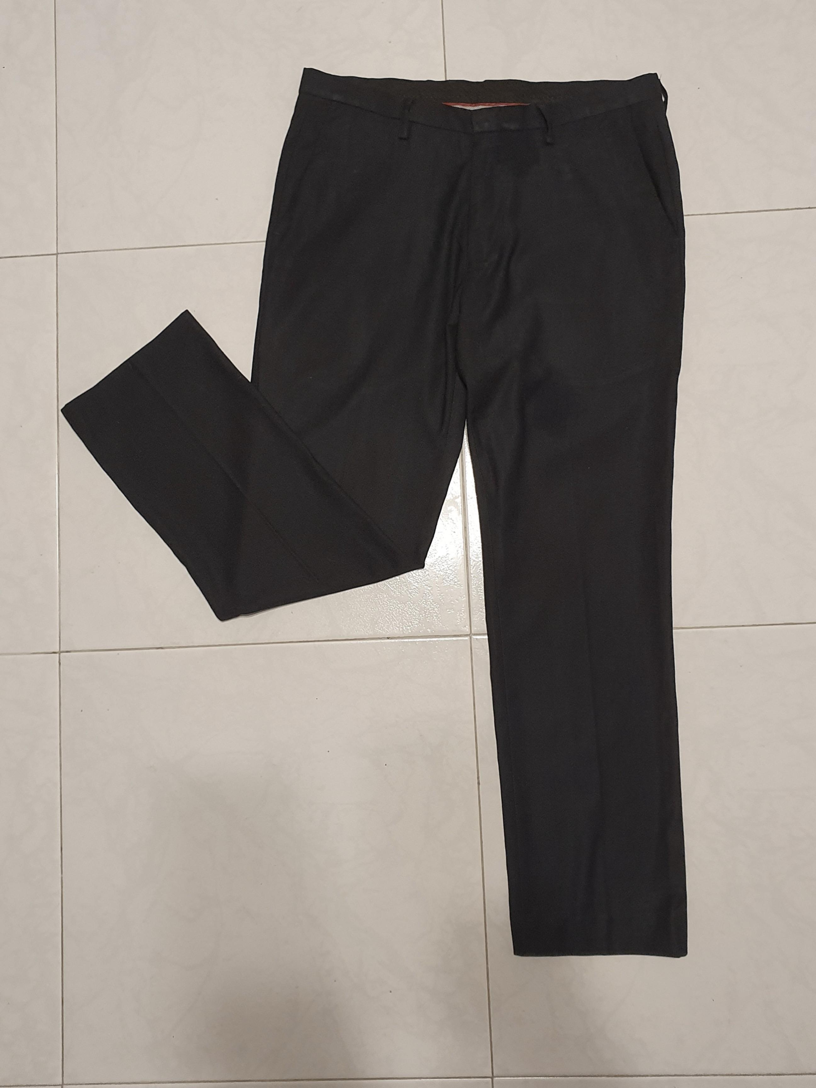 Type Dress Pants Fit Straight Pattern Striped Color Black Material Spandex Closure Drawstring Waist Mid