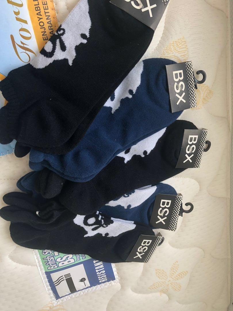 全新BSX男士短襪($50 x5對)