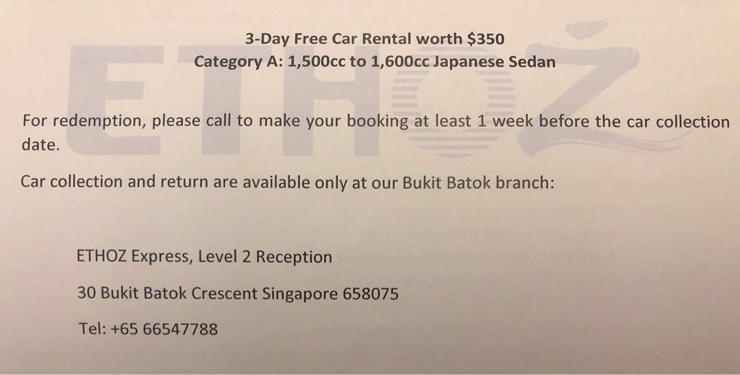 Cheap 1.6 3 days rental