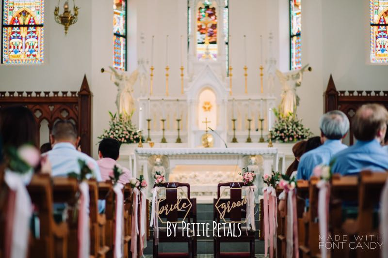 Church Wedding Flowers And Pew Decorations