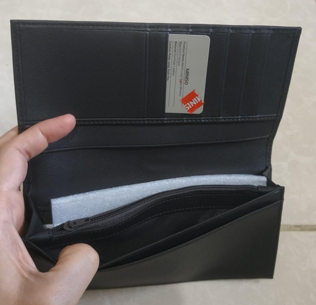 Dompet Pria Men's Long Wallet Brown Miniso