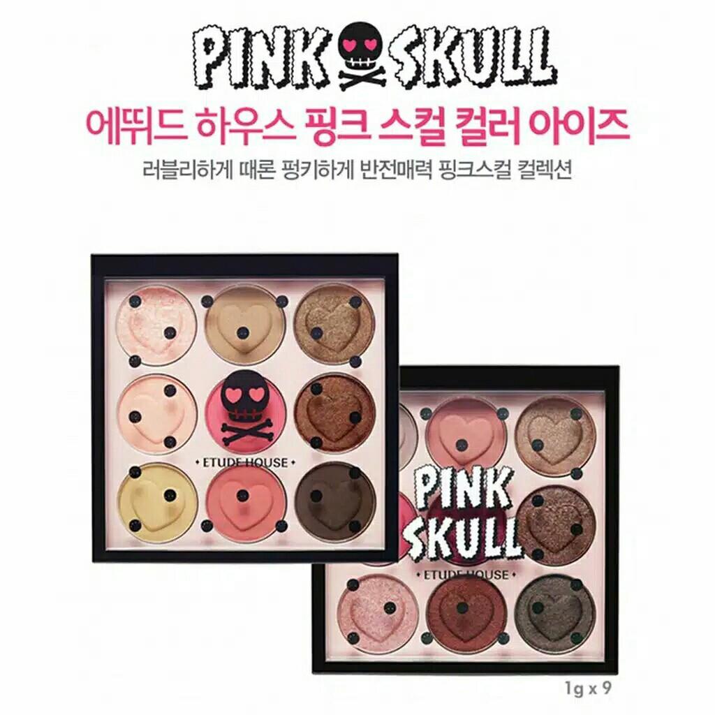Eyeshadow pink skull