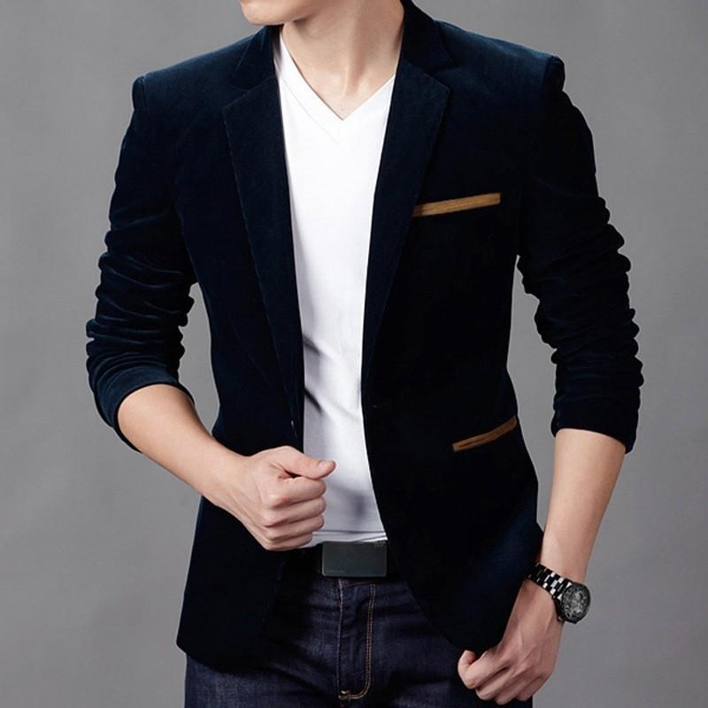 Fashion Slim Fit Stylish Casual Suit Blazer Coats Jackets