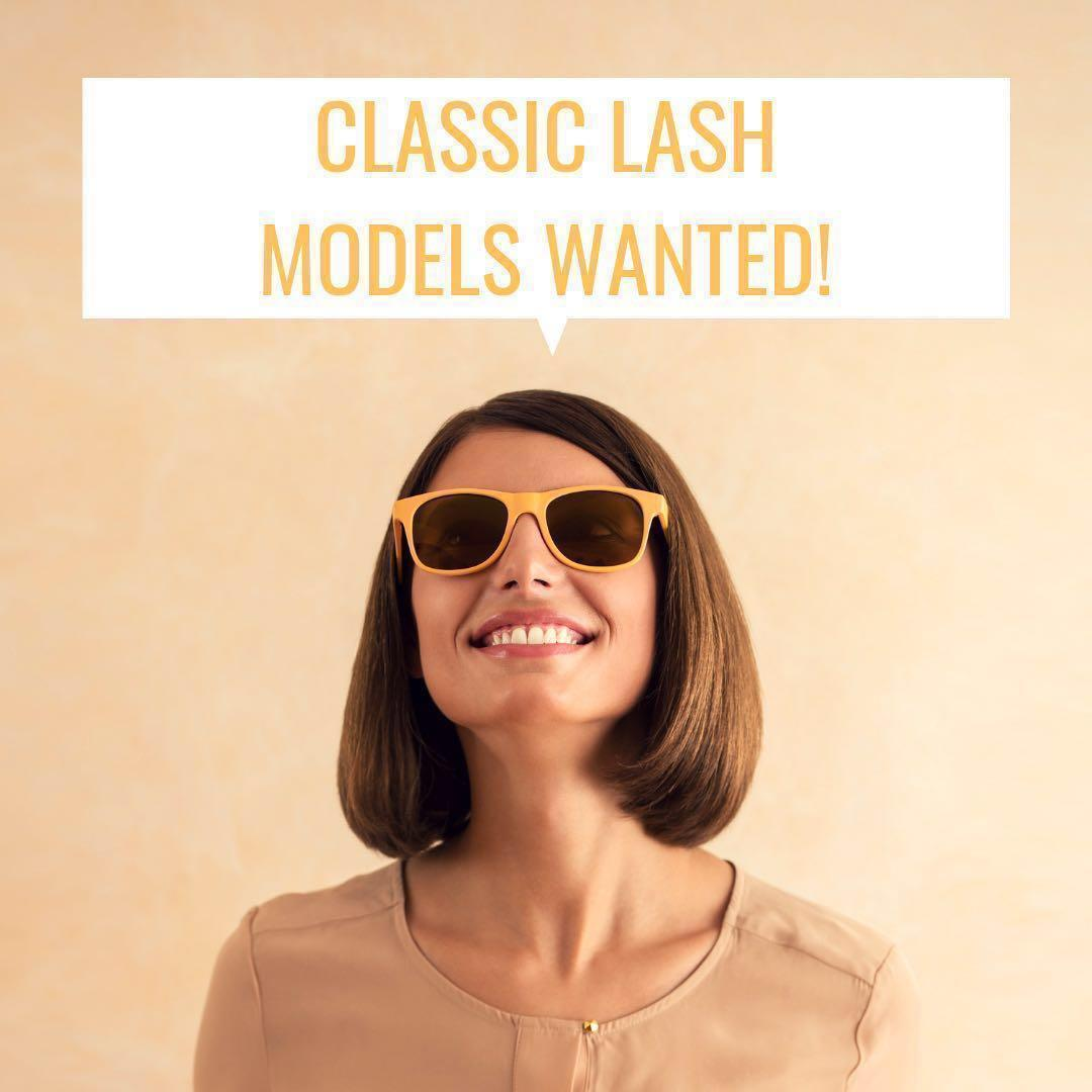 FREE! Lash models wanted for unlimited classic eyelash extensions