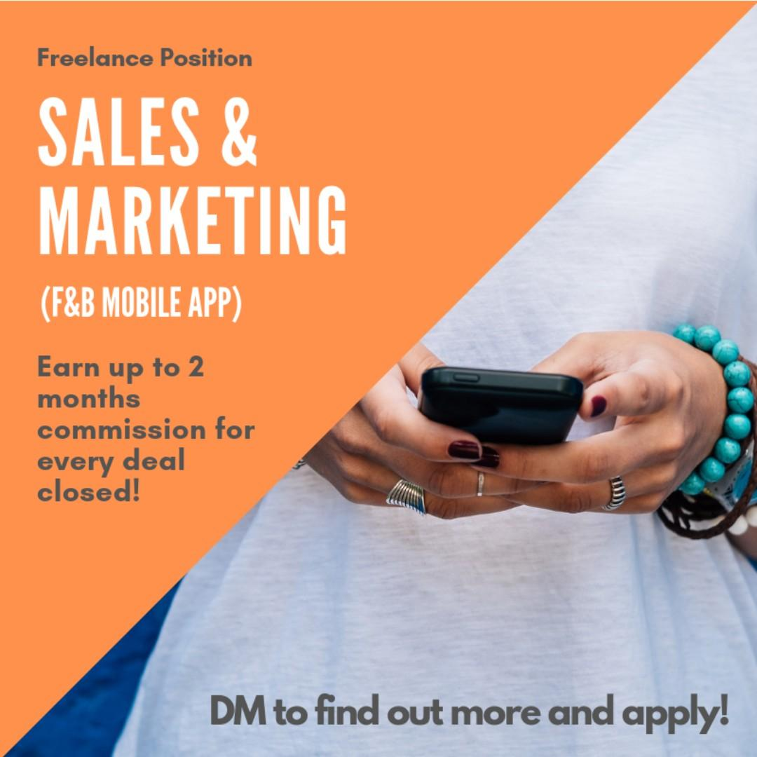 Freelance Sales and Marketing Consultant for Mobile App