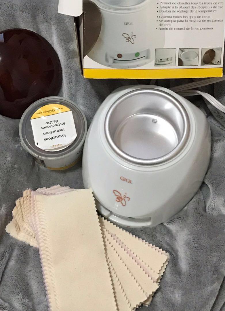 GiGi wax warmer ( warmer, wax and muslin waxing strips