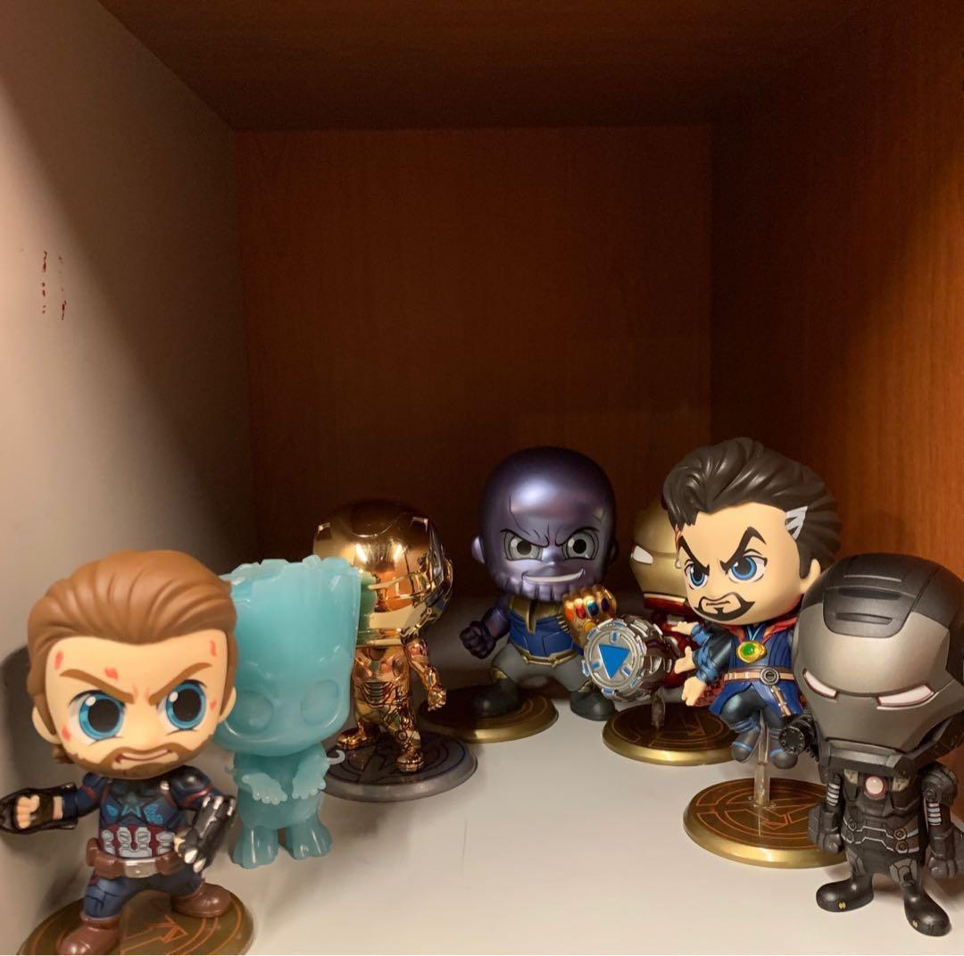 Hottoys cosbaby avengers Ironman war machine groot Captain America Thanos dr strange