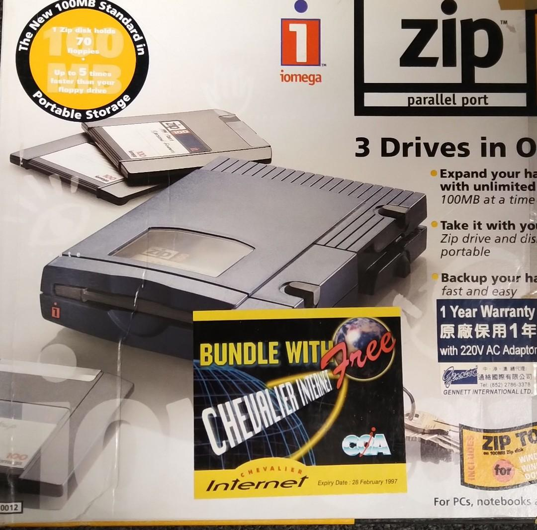 Iomega Zip drive 100  with parallel port cable