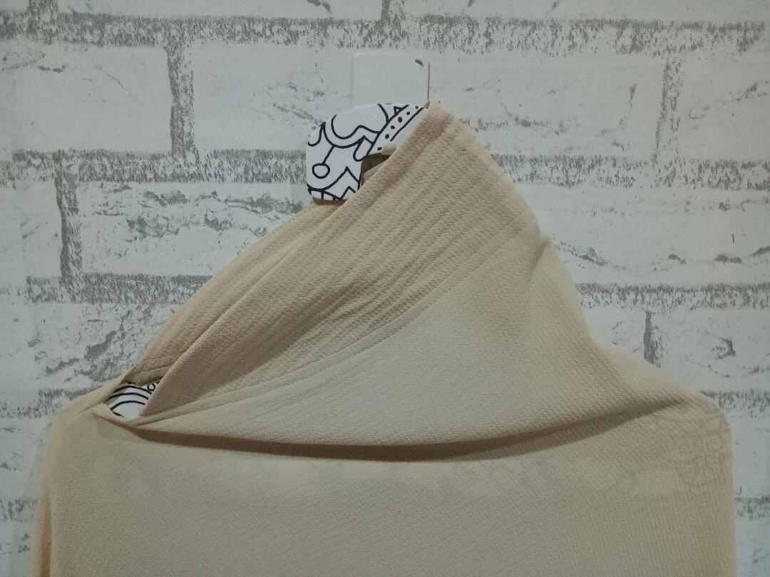 Khimar Instan Polos Bubblepop Jilbab Wanita Softpad